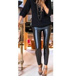 New▪️Black High waisted faux leather leggings